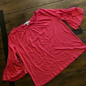 NWT Michael Kors Pink 3/4 Sleeve Top